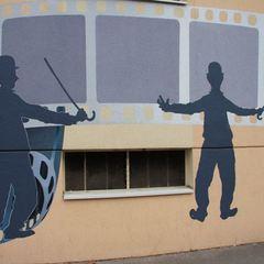 Fresque Charlie Chaplin