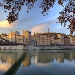 Le Vieux- Lyon et la Passerelle Saint-Vincent