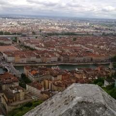 Vue de Lyon depuis les toits de Fourvière