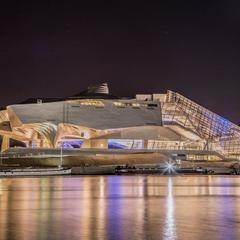 Musée des Confluences nuit