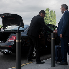 chauffeur et client