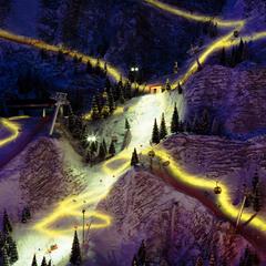 Fête des lumières sur la montagne
