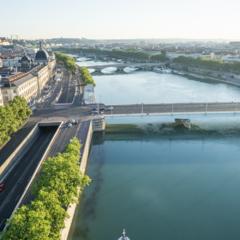 Vue aérienne pont de la Guillotière