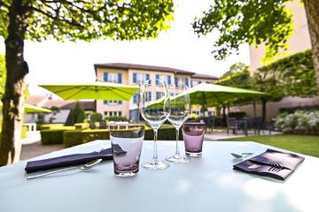 Les jardins du restaurant bistronomique PH3 de la Pyramide - Vienne (38 Isère)